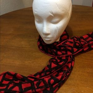 Vintage UANA Red/Black Scarf